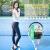 ラッケト男女初心者セットサスペンションカバーシンゲル一体炭素繊維ラケトブラックシルバーをプレゼントします。