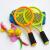 子供のラッケトはラケット類のおもちゃです。子供用ラケット小学生3-12歳アウトドアスポーツセット2本の38 cm笑顔ラケット+6球+リュックサック