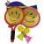 子供用ラケットおもちゃ子供の初心者バドミントンラケットおもちゃ幼稚園児屋外スポーツラッケト中号ラケット2本+4球(バックパック)